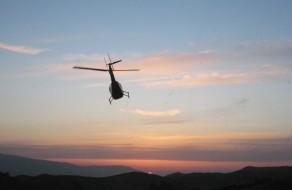 Helicopter Departing Lundborg-Land