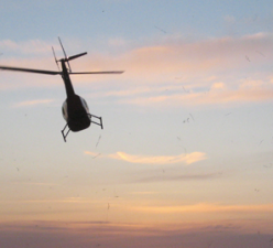 Helicopter Departing Lundborg-Land